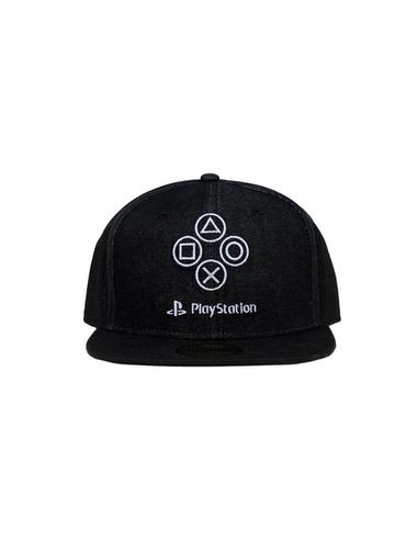 Sony PlayStation Snapback Cap Denim Symbols