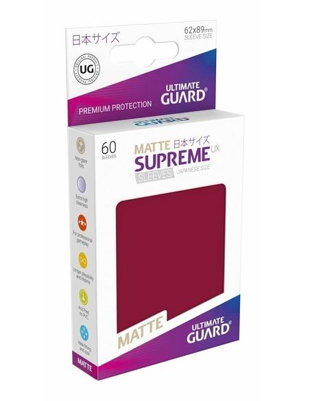 Ultimate Guard Supreme UX Sleeves Japanese Size Matte Burgundy (60)